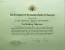 Presidential Medal of Freedom Certificate  » Click to zoom ->